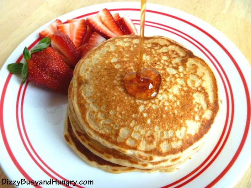 Lemon Yogurt Pancakes | Dizzy Busy and Hungry!