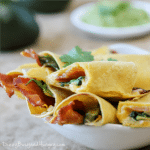 cheesy bacon taquitos