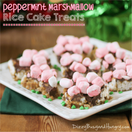 Peppermint Marshmallow Rice Cakes Treats from Anyonita Nibbles