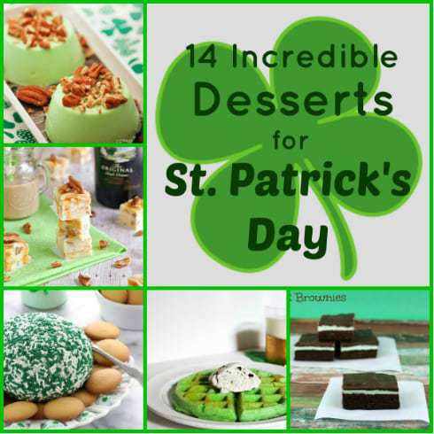 14 Incredible Desserts for St. Patrick's Day from DizzyBusyandHungry.com