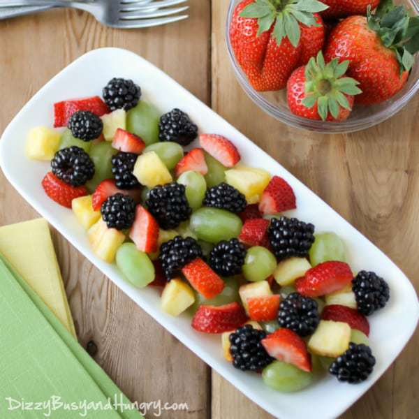 Mixed Berry And Banana Fruit Salad Recipe — Dishmaps