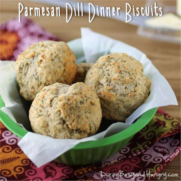 Parmesan Dill Dinner Rolls by DizzyBusyandHungry.com
