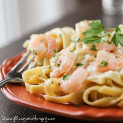 Shrimp Fettuccine Alfredo | Dizzy Busy and Hungry!