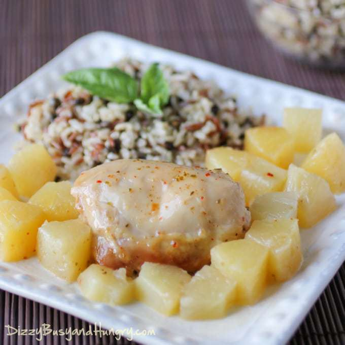 Slow Cooker Pineapple Chicken | Dizzy Busy and Hungry!