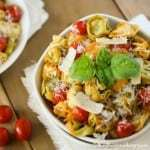 Spicy Skillet Tortellini with Tomatoes