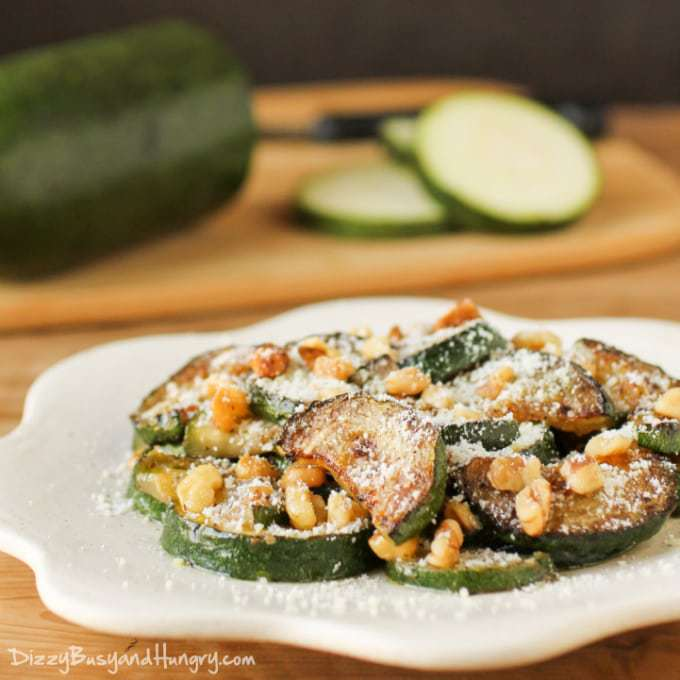 Sauteed Zucchini with Walnuts | Dizzy Busy and Hungry!