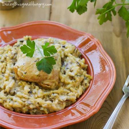 Easiest Slow Cooker Chicken and Wild Rice