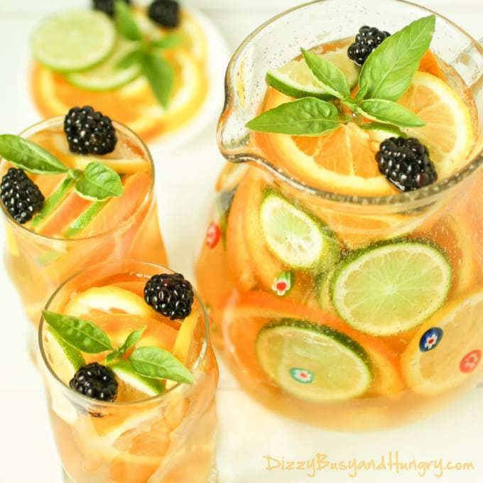 Citrus And Basil Sangria Recipes — Dishmaps