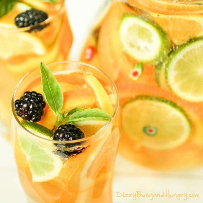 Sparkling Citrus Sangria | DizzyBusyandHungry.com - Refreshing and ...