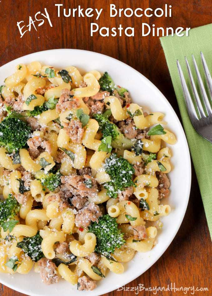 Pasta with Turkey and Broccoli | 10 Easy Ground Turkey Recipes - Real ...