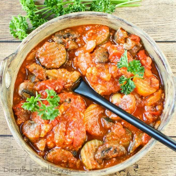 Slow Cooker Chicken Cacciatore | DizzyBusyandHungry.com - Only 10 ...