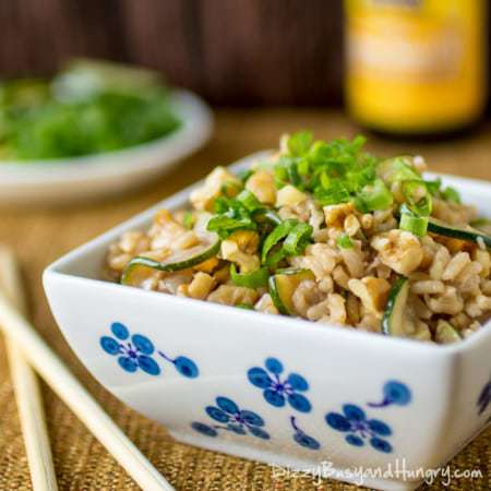 Zucchini Walnut Fried Rice