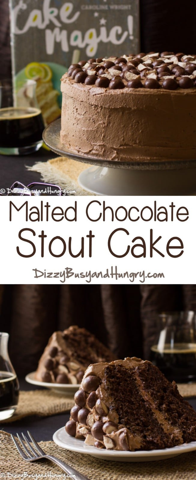 Malted Chocolate Stout Cake #WeekdaySupper | Dizzy Busy and Hungry!