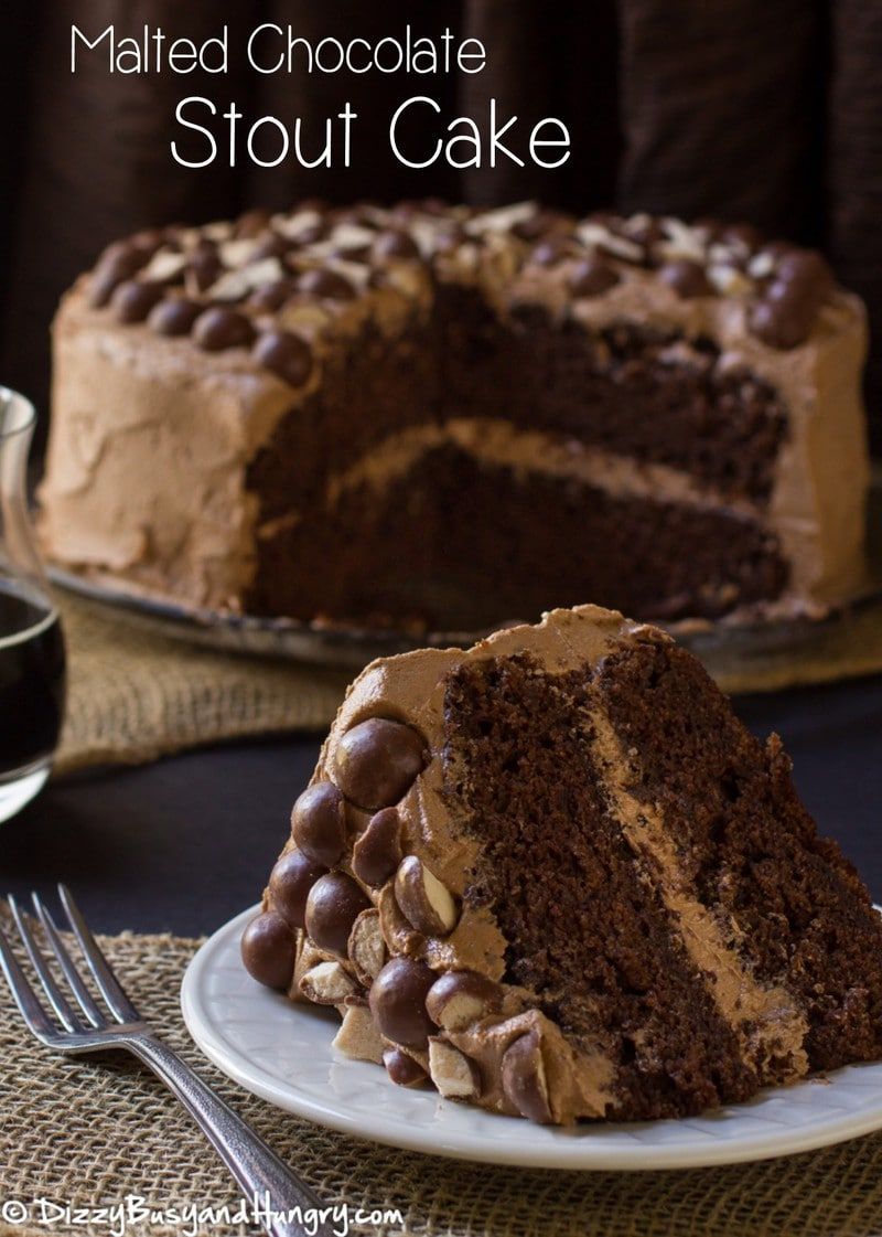 Malted Chocolate Stout Cake | DizzyBusyandHungry.com - Amazingly moist ...