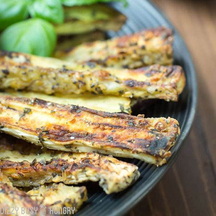 Baked Eggplant Fries, shared by Dizzy, Busy & Hungry at The Chicken Chick's Clever Chicks Blog Hop