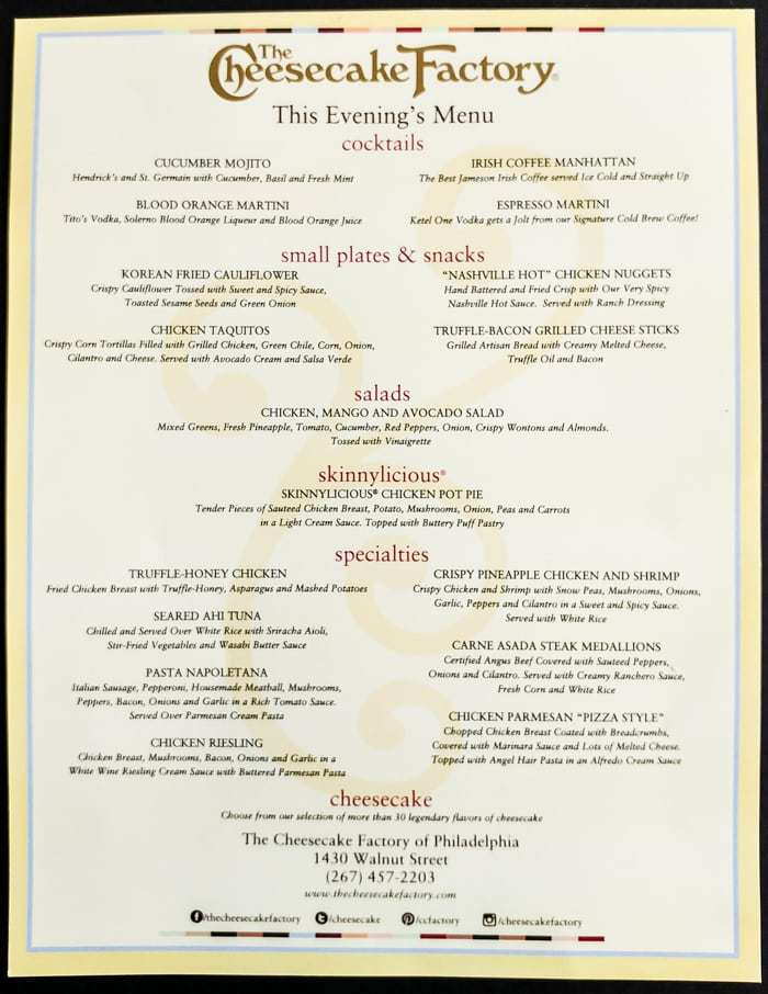 picture regarding Cheesecake Factory Printable Menu titled Property Selling prices For British isles Information: Selling prices For The Cheesecake Manufacturing unit Menu