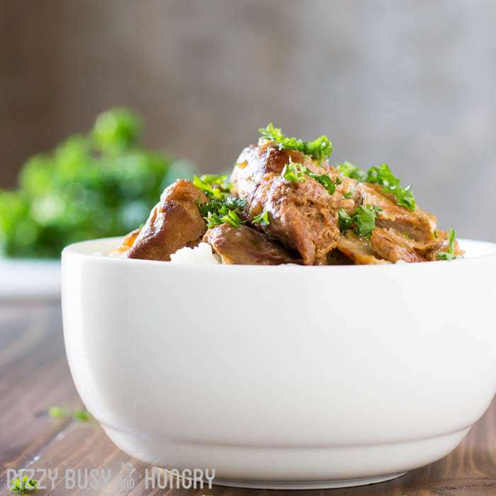 Crock Pot Chicken Thighs in Honey Beer Sauce | Dizzy Busy and Hungry.com - Easy recipe for creating a flavorful chicken dinner for your family!