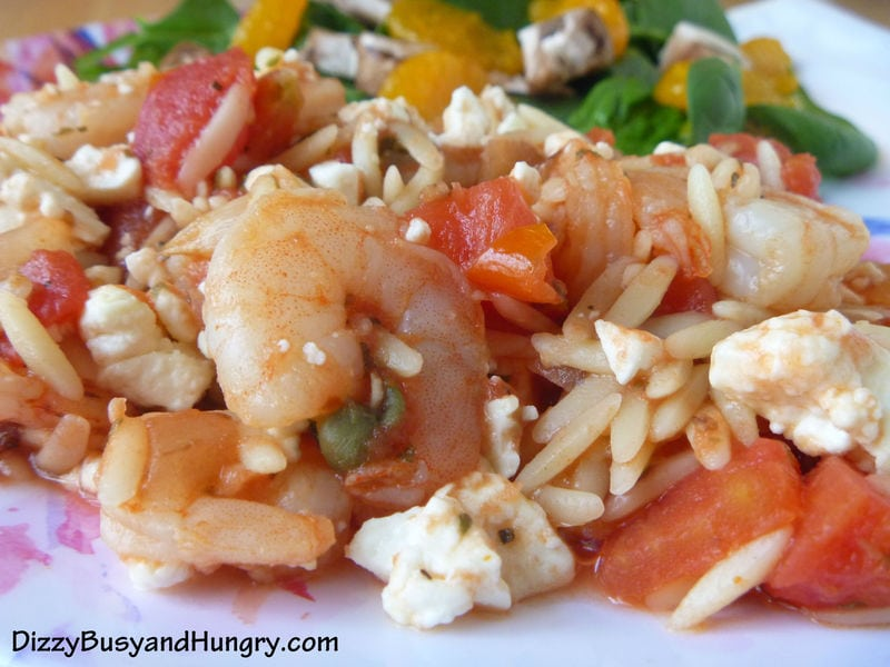 Greek Shrimp with Orzo
