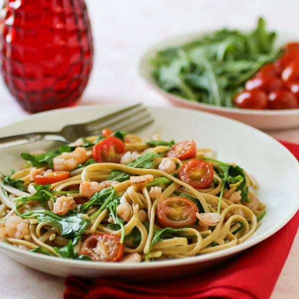 Shrimp Arugula Linguine