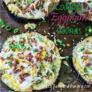Loaded Eggplant Rounds