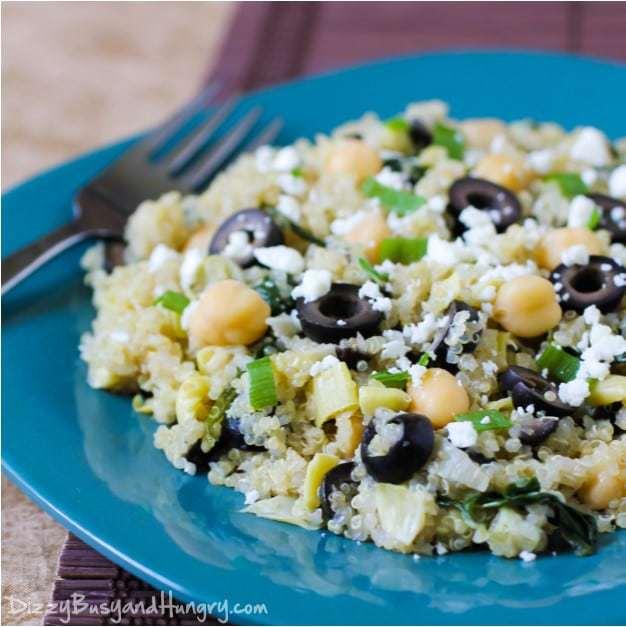 Quinoa with Artichokes and Chickpeas