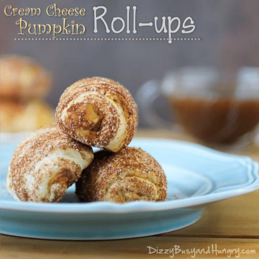 cream cheese pumpkin rollups
