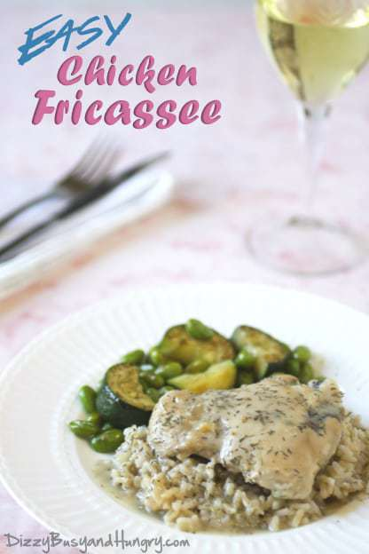 easy chicken fricassee
