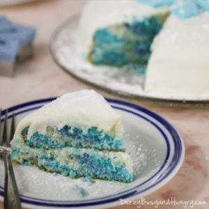 snowflake cake-piece