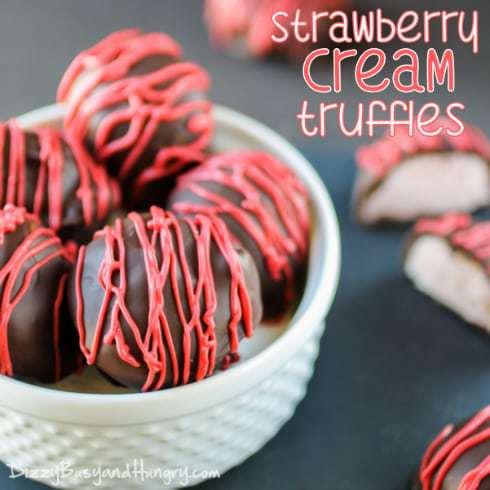 strawberry cream truffles title