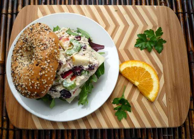chicken-salad-with-cranberries-apples-celery-and-basil