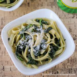 Fettuccine and Spinach