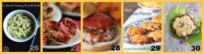 60+ Kid Favorite Dinners Ready in 30 Minutes or Less!   DizzyBusyandHungry.com