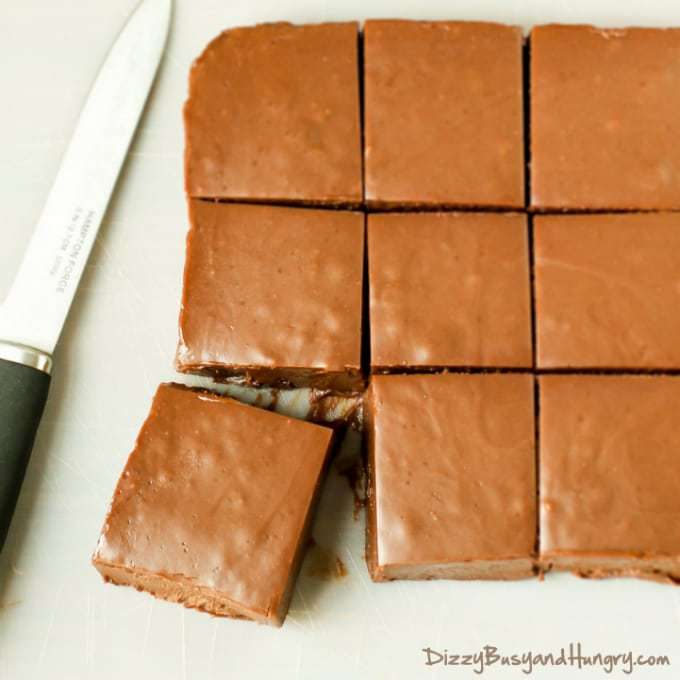 Microwave Pumpkin Fudge | DizzyBusyandHungry.com - Quick, easy, pumpkin-y and fudgy! Need I say more?