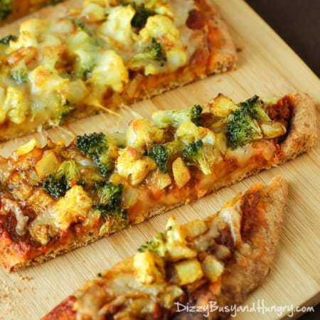 Curried Veggie Pizza