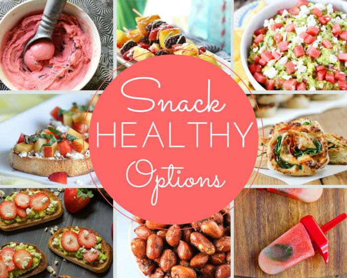 15 Healthy Snack Options | DizzyBusyandHungry.com - 15 delicious ways to snack yourself healthy!
