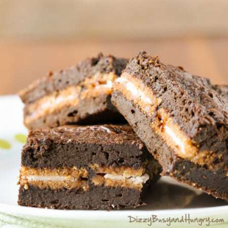 Pumpkin Oreo Brownies