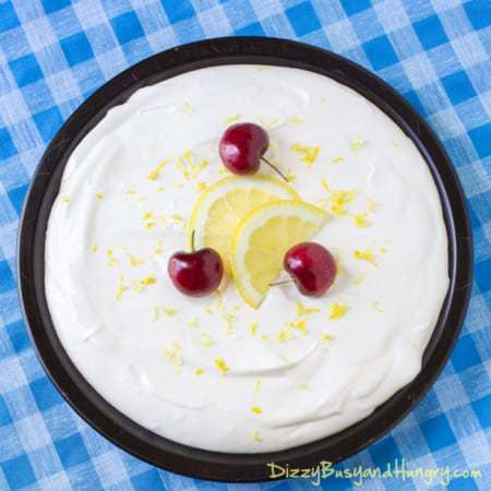 Lemonade Pie with Sugar Cone Crust #SundaySupper