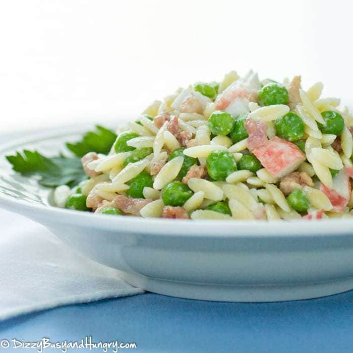 Bacon Crab Pasta Salad Dizzybusyandhungry Com Great As A Side Dish Or A