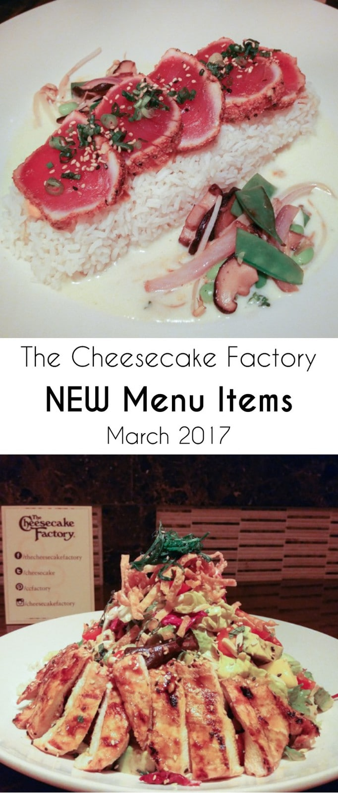 Cheesecake Factory New Menu Items March 2017 | DizzyBusyandHungry.com