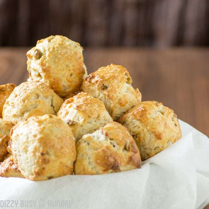 Olive Parmesan Pretzel Bites | DizzyBusyandHungry.com - Easy, no-yeast recipe for creating soft pretzel bites, with yummy green olives and Parmesan cheese baked right in!