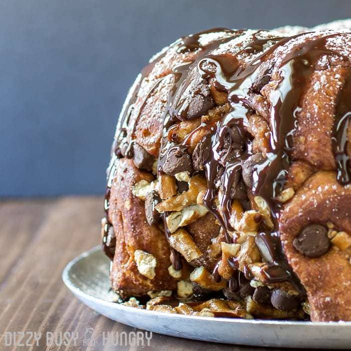 Chocolate Pretzel Monkey Bread Hero
