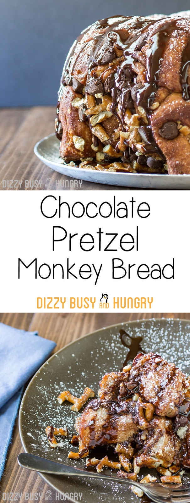 Chocolate Pretzel Monkey Bread Pin