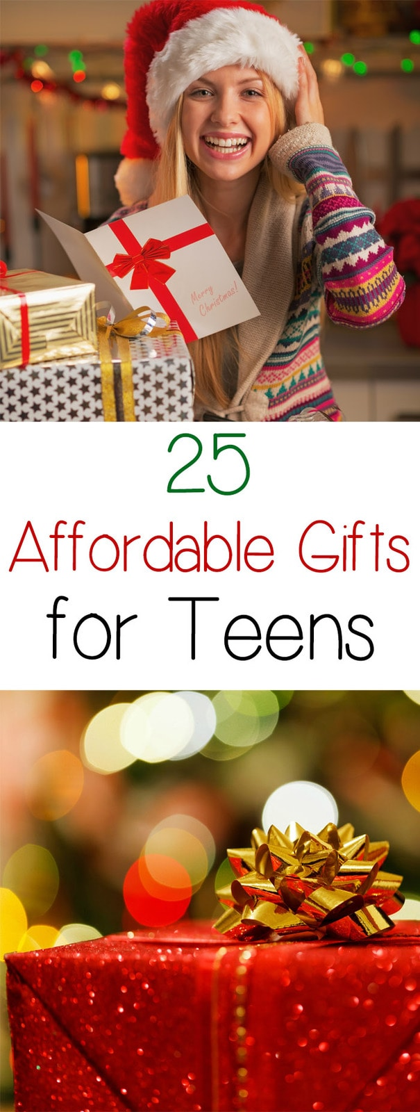 25 Affordable Gifts for Teens - Teens love electronics, but a lot of that stuff is really expensive. So here is a list of affordable gifts that the teens in your life will love!
