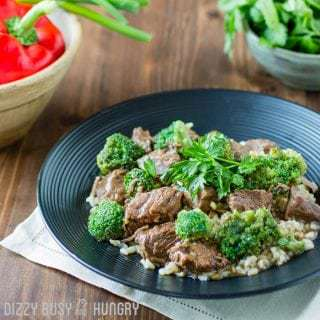 Crock Pot Beef and Broccoli | DizzyBusyandHungry.com - One of my favorite crock pot recipes, this Crock Pot Beef and Broccoli is so easy and delicious you may never order Chinese take out again!