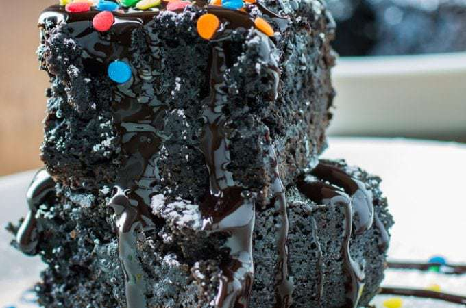 Dark Chocolate Black Bean Brownies | DizzyBusyandHungry.com - You must try this brownie recipe for a delicious, fudgy, and better-for-you treat!